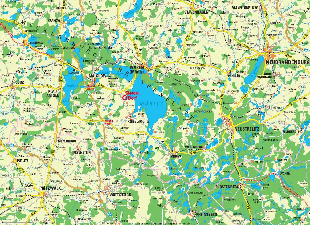 Mecklenburgische Seenplatte Karte Pdf.Ferienwohnung Muritz Mecklenburgische Seenplatte Land Der